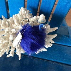 NWT Kate Spade Peacock Keychain